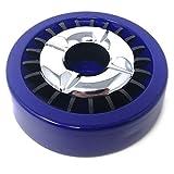 Starlet24® Gluttöter Aschenbecher für draußen Windaschenbecher Ascher stabil rund flach - Blau