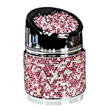 NACHEN Auto Aschenbecher mit Deckel Diamant Universal Auto Aschenbecher Creative Auto Aschenbecher, pink, 6.5 * 8.5cm