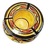 Simandra Marokkanischer Sturmaschenbecher Aschenbecher Keramik Windascher Ascher Orient Deko groß Color Gelb