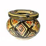 Simandra Marokkanischer Sturmaschenbecher Aschenbecher Keramik Windascher Ascher Orient Deko Color Gelb
