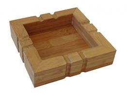 Aschenbecher aus Holz eckig - 1