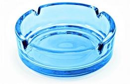 Aschenbecher aus Glas - 10,5 cm - Blau - 10 Stück - 1