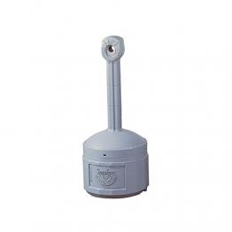 Sicherheits-Standascher aus Kunststoff - Volumen Innenbehälter 15 Liter - grau - Aschbehälter Aschesammler Feuerhemmender Ascher selbstlöschend - 1
