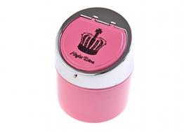 The Khan Outdoor & Lifestyle Company Quantum Abacus Stylischer Windaschenbecher aus Zinklegierung, mit Aufschrift Night Dive und Kronensymbol, Pink/poliertes Metall, Mod. 982BC-02 (DE) - 1