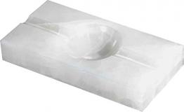 Visol Produkte Azure weiß Rechteck Onyx Stein Zigarre Aschenbecher mit 2Zigarre ruht - 1