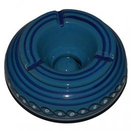 Windaschenbecher Aschenbecher Keramik Handbemalt Mediterran Terrakotta Handarbeit 01 - 1