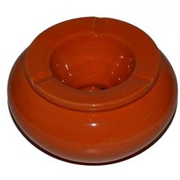 Windaschenbecher Aschenbecher Keramik Handbemalt Mediterran Terrakotta Handarbeit 02 (Orange) - 1