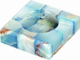 Visol Produkte Sugilith weiß und blau Onyx Stein Zigarette Aschenbecher mit 2Armlehnen - 1